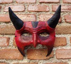 Items similar to Demon mask, wall decoration. Gothic mask on Etsy Gothic Mask, Devil Costume, Masks Art, Moose Art, Wall Decor, Costumes, Etsy, Unique Jewelry, Handmade Gifts