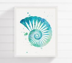Hey, I found this really awesome Etsy listing at https://www.etsy.com/listing/248814341/watercolor-seashell-seashell-art