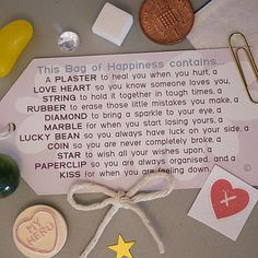 Little Bag Of Happiness this is going to make the perfect gift for someone special.