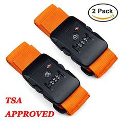 Hibate TSA Lock Luggage Strap Suitcase Travel Belt Orange Pack of 2 >>> Read more reviews of the product by visiting the link on the image. (Note:Amazon affiliate link)