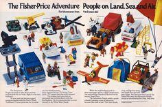 Fisher-Price Adventure People advertisement, 1977.