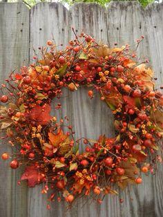 Fall Wreath Wreaths For The Door Front Door Wreath Crafts, Diy Wreath, Autumn Decorating, Fall Decor, Fall Crafts For Kids, Autumn Garden, Autumn Fall, Autumn Wreaths, Autumn Inspiration