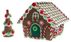 Gingerbread Cottage by Carolyn Christmas on the LoveCrochet blog