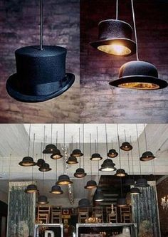 Awesome Top Hat Lights! - SunnyLOL. Funny pictures, Epic fails ..... but man they would get dusty and supper hard to clean.
