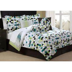 trendy boy bedding | Pixel Screen Bed Ensemble - Boys Bedding Collection