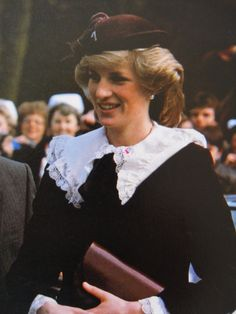 March 23, 1984: Princess Diana at the Royal Orthopaedic Hospital in Stanmore, Middlesex.