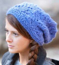 slouchy hat knitting pattern - just released FREE!