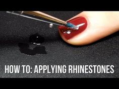Quick tutorial for anyone curious about how to stick rhinestones to their nails and make them stay there! http://www.thenailasaurus.com/