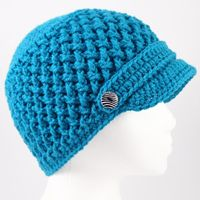 Crochet ~ Criss Cross Hat - Free Pattern ☆