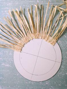 The raffia mirror - Diy Craft Projects, Diy Arts And Crafts, Projects To Try, Diy Crafts, Art Diy, Deco Boheme, Ideias Diy, Diy Chandelier, Boho Diy