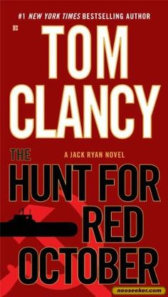 """Tom grabbed """"The Hunt for Red October"""" by Tom Clancy"""