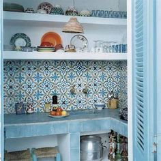 moroccan kitchen tiles tiles in turquoise blue tiles kitchen tiles and kitchen moroccan style kitchen tiles stickers Küchen Design, House Design, Interior Design, Design Ideas, Home Decor Hacks, Diy Home Decor, Decor Ideas, Moroccan Tile Backsplash, Mosaic Tiles