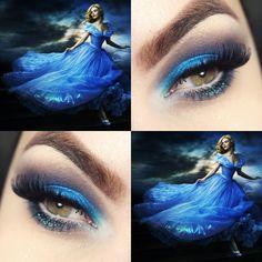 Tutorial – maquiagem inspirada no vestido da Cinderella