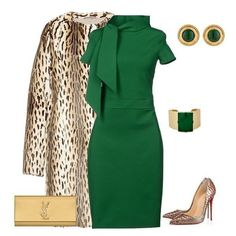 A fashion look from November 2014 featuring slim fit dress, open toe pumps and evening purses. Browse and shop related looks. Classy Outfits, Chic Outfits, Fall Outfits, Summer Outfits, Dress Outfits, Work Fashion, Fashion Looks, Fashion Fashion, Business Outfit