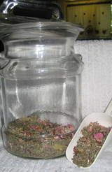 Blending Tea  Flowery note:Violets, chamomile, calendula or wild rose 1 part  Place holder:Dried red raspberry leaves or nettles 2 parts  /Fruit:Rosehips or Hibiscus flowers 1 part   Cooling Herb: Mint or Borage #pregnancytea,