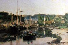 le port de pont-Aven vers 1879 de William Lamb Picknell (Phoenix Art Museum, Phoenix, Etats-Unis).