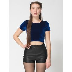 Leather Tap Short | Shop American Apparel ($110) ❤ liked on Polyvore