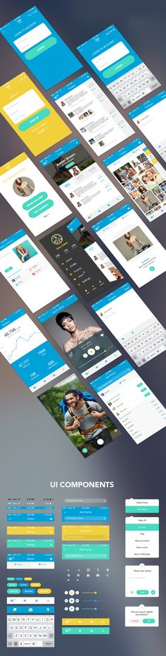#Freebie: Mobile app UI kit