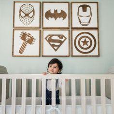 Superhero Sign Superhero Wall Art- Boys Bedroom Decor- Neutral Nursery Decor- Superhero Nursery- Kids Bedroom Decor- superhero decor - Bauen - Home Boys Bedroom Decor, Bedroom Art, Nursery Decor, Bedroom Ideas, Lego Bedroom, Design Bedroom, Superhero Signs, Superhero Wall Art, Marvel Nursery