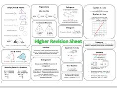 Maths GCSE Revision Resources Includes: Starter activities Learning mats for higher/foundation Revision worksheets for higher/foundation Printable formula flashcards . Gcse Maths Revision, Gcse Exams, Revision Tips, Maths Exam, Math Tutor, Revision Notes, Flashcards Revision, Trigonometry Worksheets, Revision Timetable