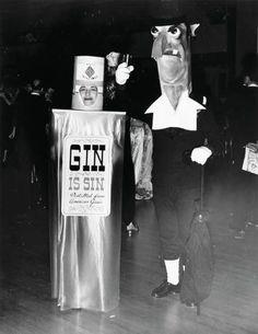 "Weegee (Arthur Fellig, 1899-1968) - ""Gin is Sin"", ca 1950."