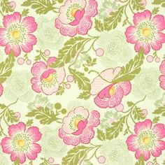Manufacturer: Westminster / Free Spirit (AB32 Fuchsia)  Designer: Amy Butler  Collection: Midwest Modern 1 and 2  Print Name: Fresh Poppies in Fuchsia