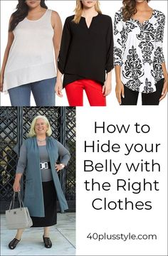 How to hide your belly with fabulous clothes – no need to let everyone know you have a tummy! size fashion for women with belly How to hide your belly with fabulous clothes - hide that tummy! Office Outfits Women, Casual Dresses For Women, Stylish Outfits, Cool Outfits, Clothes For Women, Dress To Hide Belly Fat, Dresses To Hide Tummy, Look Plus Size, Mode Plus