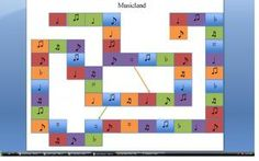 Musicland Board Game - Printable