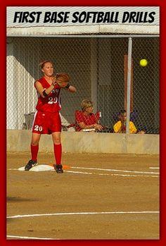 Softball Practice Drills for First Basemen softball-spot.com