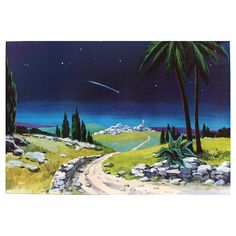 Fondo belén madera estrella cometa 100x68 cm 4