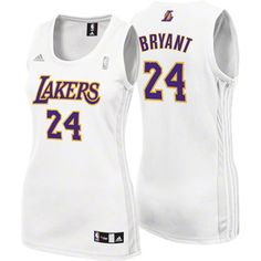 Women show your support for Kobe Bryant with this Lakers jersey from Adidas.