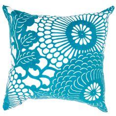 Contemporary Poly Dupione Blue Square Pillows (Set of 2) | Overstock.com