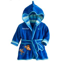 Nemo Bath Robe for Baby - Personalizable | Bath Accessories | Disney Store