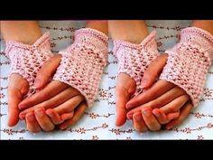 Mitones calados tejidos a crochet (PARTE 3 DE 3) - YouTube