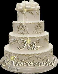 Anniversary message in Portuguese Anniversary Wishes For Parents, Happy Anniversary Quotes, Anniversary Message, Anniversary Greetings, Happy Birthday Wishes Quotes, Happy Birthday Cakes, Birthday Gifs, Happy Birthday In Spanish, Happy Aniversary