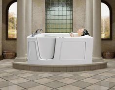 1000 Images About Easy Access Tubs Walk In Tubs On Pinterest Walk In Bat