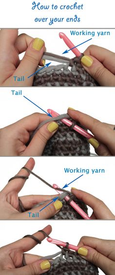 How to Crochet Over Your Ends