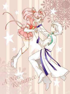 Chibi Moon and Helios -- Sailor Moon fanart -- A New Romance by ~Mangaka-chan on deviantART