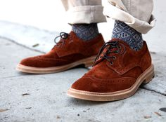 everlane:    Junya Watanabe MAN Suede Wingtip Brogues—to put it simply, these fuckers are nice.