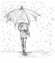 If you want to draw a girl with an umbrella, then .-Wenn Sie ein Mädchen mit Regenschirm zeichnen wollen, dann schauen Sie mal dies… If you want to draw a girl with an umbrella, take a look at this simple guide. It helps you to draw the girl. Inspiration Art, Art Inspo, Pencil Art, Pencil Drawings, Art Doodle, Drawing People, Drawing Girls, Drawing Sketches, Drawing Ideas