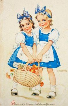 "Gallery.ru / Фото #1 - Процесс "" Сестренки"", по рисунку Lungers Hausen - nata0179"