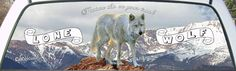 Lone White Wolf Pickup Window Graphic Get one for your rear window of your car or truck today.