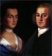 """John and Abigail Adams were destined to become the most famous and consequential couple in the revolutionary era, some would say the premier husband-and-wife team in all American history. It is interesting to realize that when they first met in the summer of 1759, neither one was particularly impressed by the other. John was a man whose """"feelings seemed to move instantaneously from his soul to his mouth or pen, without passing through any filter in his head."""" Abigail was equally outspoken."""
