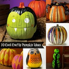 10 ways to decorate pumpkins for Halloween - so cute!
