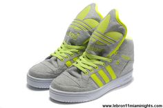 Sale Discount Adidas X Jeremy Scott Big Tongue Shoes Grey Green Sports Shoes Store