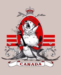 Another All-Canadian crest. Good representation, geese are assholes. funny pictures, canada day, beaver, funny images, funny quotes, bikini, leaves, t shirts, family crest