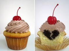 Broken heart cupcakes