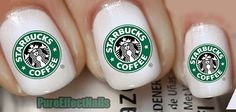 Starbucks Nail Decals by PureEffectNails on Etsy, $4.00
