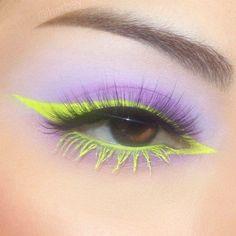 Edgy Makeup, Makeup Eye Looks, Eye Makeup Art, Colorful Eye Makeup, Cute Makeup, Makeup Goals, Pretty Makeup, Skin Makeup, Makeup Inspo