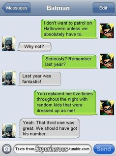 Superhero Text Messages Revealed - Likes